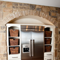 Refrigerator with Side Cabinets and Storage