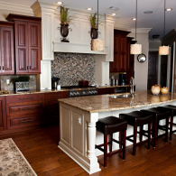 Gorgeous Kitchen with Cabinetry and Kitchen Island