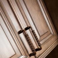 Closeup of Kitchen Cabinet Handles